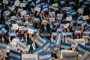 Democratic presidential candidate Sen. Bernie Sanders (I-VT) speaks at a campaign rally at the University of Minnesotas Williams Arena on November, 3, 2019 in Minneapolis, Minnesota. Over 10,000 people attended the rally, where Sanders was joined by Democratic Representative Ilhan Omar.