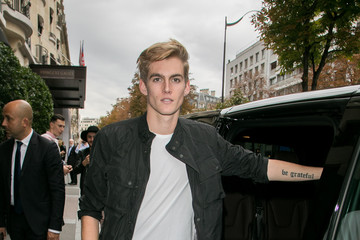 Presley Gerber Presley Gerber, Gabriel Kane Day Lewis & Jordan Barratt Sighting During Paris Fashion Week