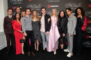 (L-R) Graeme Thomas King, Garrett Wareing, Janel Parrish, Hayley Erin, Eli Brown, Sasha Pieterse, Chris Mason, Kelly Rutherford, I. Marlene King, Evan Bittencourt and Klea Scott arrive at the 'Pretty Little Liars: The Perfectionists' premiere at Hollywood Athletic Club on March 15, 2019 in Hollywood, California.