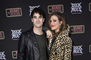 Darren Criss and Mia Swier attend Preview Of Rock of Ages Hollywood At The Bourbon Room on December 18, 2019 in Hollywood, California.
