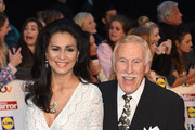 Sir Bruce Forsyth (R) and his wife Wilnelia Forsyth attend the Pride of Britain awards at The Grosvenor House Hotel on October 6, 2014 in London, England.