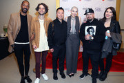 (L-R) Darcus Beese, President of Island Records, Johan Lenox, Eric Wong, Bishop Briggs, Benji Madden and Kate McLaughlin attend Primary Wave x Island Records Presented By Mastercard at 1 Hotel West Hollywood on January 23, 2020 in West Hollywood, California.