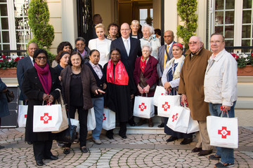 Prince Albert II Parcels Distribution at Monaco Red Cross Headquarters