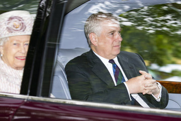 Prince Andrew Royal Family Members Attend Crathie Church Near Balmoral