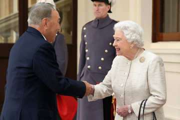 Prince Andrew The Queen Receives the President of Kazakhstan