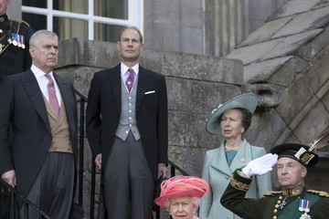 Prince Andrew Queen Elizabeth II The Queen Hosts Garden Party At Palace Of Holyroodhouse