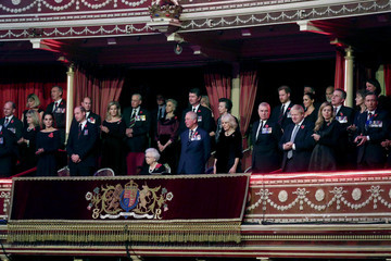 Prince Andrew Queen Elizabeth II The Queen And Members Of The Royal Family Attend The Royal British Legion Festival Of Remembrance