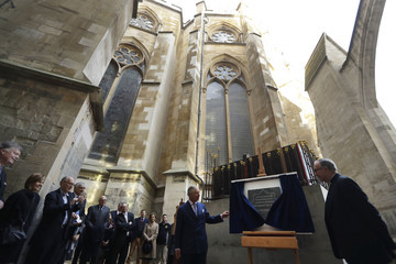 Prince Charles The Prince Of Wales Visits The Queen's Diamond Jubilee Galleries At Westminster Abbey