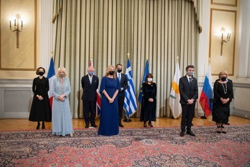 Prince Charles Camilla Parker Bowles The Prince Of Wales And The Duchess Of Cornwall Visit Athens, Greece - Day One