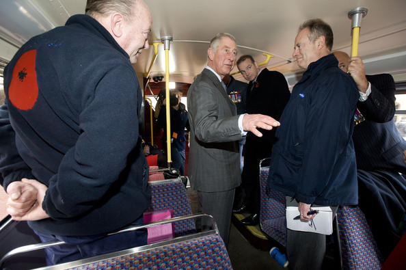 The Prince Of Wales Meets Ambassadors & Collectors On Board The London Poppy Day Red Bus []