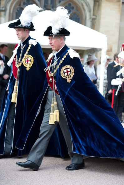 Queen Elizabeth II and Members Of The Royal Family Attend The Order Of The Garter Service