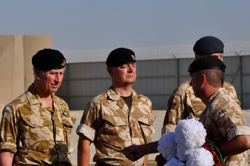 Gary Lester Prince Charles Visits Helmand Province, Afghanistan