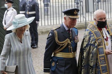 Prince Charles The Prince Of Wales And The Duchess Of Cornwall Attend The Battle Of Britain 81st Anniversary Service Of Thanksgiving And Rededication