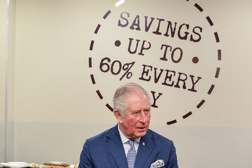 Prince Charles The Prince Of Wales Meets Prince's Trust Young People At TK Maxx Tooting