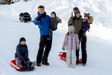 Prince Christian of Denmark Danish Royals On Ski Holiday In Verbier
