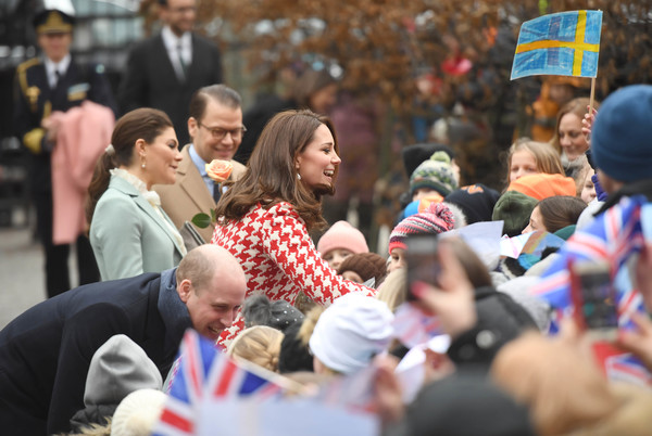 The Duke and Duchess of Cambridge Visit Sweden and Norway - Day 2 [crowd,people,event,audience,community,fan,sweden,norway,duchess of cambridge,cambridge,stockholm,prince william,duke,children,daniel,victoria]