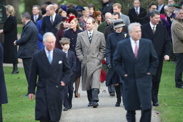 Prince Edward Members of the Royal Family Attend St Mary Magdalene Church in Sandringham