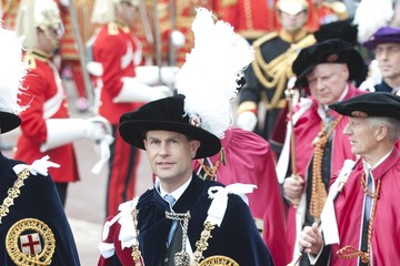 Prince Edward The Order of the Garter Service in Windsor