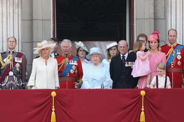 Prince Edward Prince Charles Trooping the Colour 2017