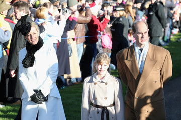 Prince Edward The Royal Family Attends Christmas Day Service