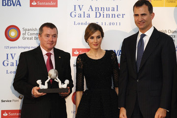 Willie Walsh Prince Felipe And Princess Letizia Of Spain Visit London