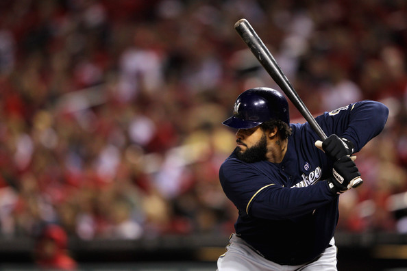 Prince Fielder - Milwaukee Brewers v St Louis Cardinals - Game Five