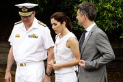 Princess Mary of Denmark and Prince Frederik of Denmark attend a BBQ at Garden Island with Australian and Danish  business leaders during there Australian visit on November 20, 2011 in Sydney, Australia.  Princess Mary and Prince Frederik are on their first official visit to Australia since 2008. The Royal visit begins in Sydney, before heading to Melbourne, Canberra and Broken Hill.