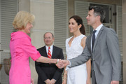 Governor General Quentin Bryce welcomes Prince Frederik of Denmark and Princess Mary to Admiralty House on November 20, 2011 in Sydney, Australia. Princess Mary and Prince Frederik are on their first official visit to Australia since 2008. The Royal visit begins in Sydney, before heading to Melbourne, Canberra and Broken Hill.