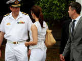 Prince Frederick of Denmark and Princess Mary of Denmark attend BBQ with special guests at Garden Island on November 20, 2011 in Sydney, Australia. Princess Mary and Prince Frederik are on their first official visit to Australia since 2008. The Royal visit begins in Sydney, before heading to Melbourne, Canberra and Broken Hill.
