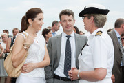 In this handout provided by the Royal Australian Navy, Princess Mary of Denmark and Prince Frederik of Denmark speak with the Commanding Officer of HMAS Kuttabul, Commander Christine Clark, at a barbeque held at the Royal Australian Navy Heritage Centre at Garden Island on November 21, 2011 in Sydney, Australia. Princess Mary and Prince Frederik are on their first official visit to Australia since 2008. The Royal visit begins in Sydney, before heading to Melbourne, Canberra and Broken Hill.