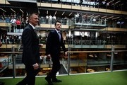 Prince Frederik of Denmark (R) inspects the sustainable Commonwealth Bank building at the Darling Quarter on November 21, 2011 in Sydney, Australia. Princess Mary and Prince Frederik are on their first official visit to Australia since 2008. The Royal visit begins in Sydney, before heading to Melbourne, Canberra and Broken Hill.