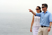Princess Mary of Denmark and Prince Frederik of Denmark look out over the ocean fog during their visit to the Sculpture by the Sea on November 20, 2011 in Sydney, Australia. Princess Mary and Prince Frederik are on their first official visit to Australia since 2008. The Royal visit begins in Sydney, before heading to Melbourne, Canberra and Broken Hill.