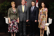 (L-R) Rosemary O'Farrell, NSW Premier Barry O'Farrell, Prince Frederik of Denmark and Princess Mary of Denmark pose at the Hotel Sofitel Wentworth during their visit to Australia on November 21, 2011 in Sydney, Australia. Princess Mary and Prince Frederik are on their first official visit to Australia since 2008. The Royal visit begins in Sydney, before heading to Melbourne, Canberra and Broken Hill.