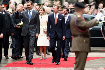 Prince Guillaume King Felipe VI and Queen Letizia Visit Luxembourg