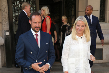 Prince Haakon Crown Prince Haakon And Crown Princess Mette-Marit of Norway Present Gift to Cooper Hewitt