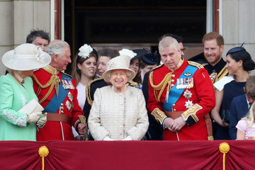 Prince Harry Camilla Parker Bowles Trooping The Colour 2019