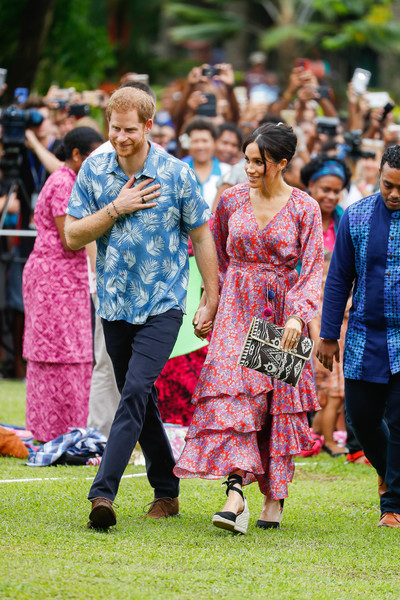 The Duke And Duchess Of Sussex Visit Fiji - Day 2 [people,woman,social group,lady,crowd,fun,tradition,girl,temple,recreation,harry,meghan,fiji,sussex,duchess,cities,duke of sussex,university of the south pacific,duke and duchess of sussex visit,tour]