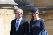 Sarah Rafferty (L) and her husband Santtu Seppala arrive at the wedding of Prince Harry to Ms Meghan Markle at St George's Chapel, Windsor Castle on May 19, 2018 in Windsor, England. Prince Henry Charles Albert David of Wales marries Ms. Meghan Markle in a service at St George's Chapel inside the grounds of Windsor Castle. Among the guests were 2200 members of the public, the royal family and Ms. Markle's Mother Doria Ragland.