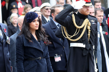 Prince Harry Meghan Markle Members Of The Royal Family Attend The 91st Field Of Remembrance At Westminster Abbey