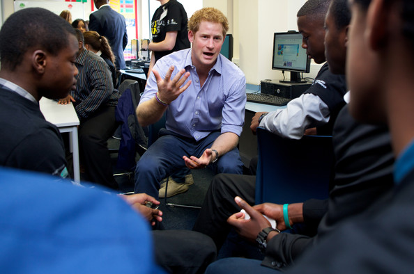 Prince Harry Prince Harry is pictured during a visit to Bethnal Green Academy where he joined a group of 60 students from schools across east London who will be receiving training to become digital media champions for the Invictus Games on July 21, 2014 in London, England.  The Invictus Games is an international sports event for wounded warriors launched by Prince Harry which is coming to London from 10-14 September 2014.