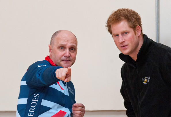 Prince Harry Prince Harry watches veterans play a game of wheel chair rugby at the launch of the Invictus Games selection process at Tedworth House on April 29, 2014 in Tidworth, Wiltshire, England.
