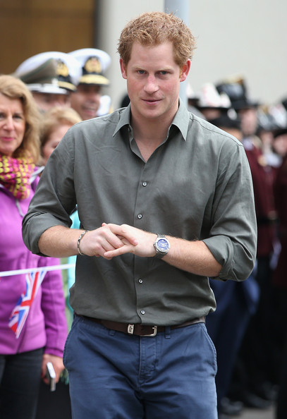 Prince Harry meets members of the public outside Valpariso Firestation on June 28, 2014 in Valpariso, Chile. Firefighters from Valpariso were involved in dealing with the devastating forest fires that hit the area in April. Prince Harry is on a three day tour of Chile after visiting Brazil.