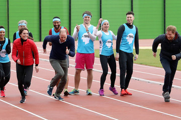 Prince Harry The Duke & Duchess of Cambridge and Prince Harry Join Team Heads Together at a London Marathon Training Day