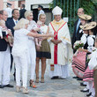 Prince Jacques Prince Albert II and Princess Charlene of Monaco Attend Traditional'Pique Nique Monegasque'
