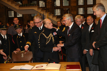 Prince Laurent Prince Philip at the Ypres Menin Gate Ceremony