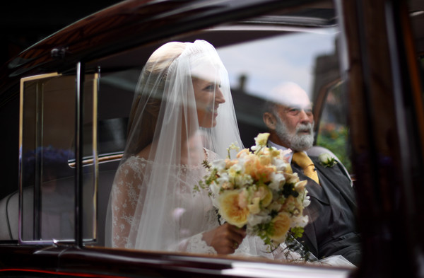 The Wedding Of Lady Gabriella Windsor And Mr. Thomas Kingston [gabriella windsor,thomas kingston,michael,bride,bride,photograph,veil,bridal veil,wedding dress,marriage,bridal clothing,bridal accessory,ceremony,wedding,wedding,wedding,kent,windsor castle,windsor,england]