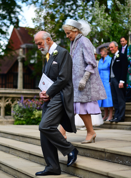 The Wedding Of Lady Gabriella Windsor And Mr. Thomas Kingston [photo,daytime,fashion,street fashion,standing,suit,street,headgear,event,photography,tourism,gabriella windsor,thomas kingston,michael,princess,kent,st georges chapel,england,getty images,wedding]