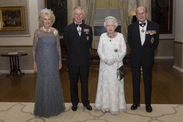 Prince Philip Prince Charles The Queen and Senior Royals Attend the Commonwealth Heads of Government Meeting - Day Two