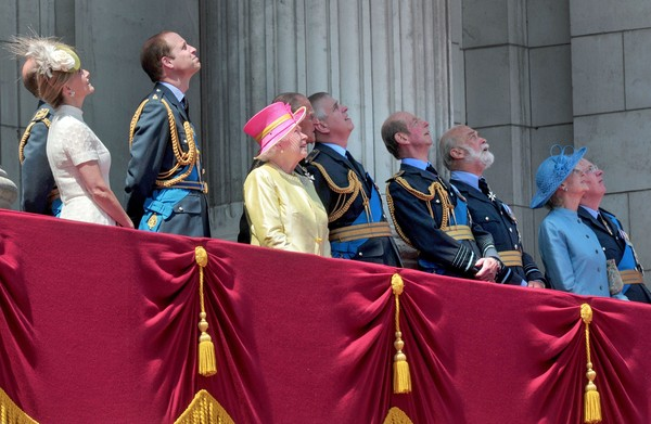 75th Anniversary of the Battle of Britain [event,cope,75th anniversary of the battle of britain,richard,andrew,philip,elizabeth ii,michael,duke,alexandra,prince edward,countess of wessex]