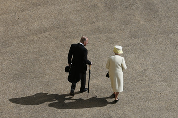 Prince Philip A View From the Roof Over Buckingham Palace Garden Party